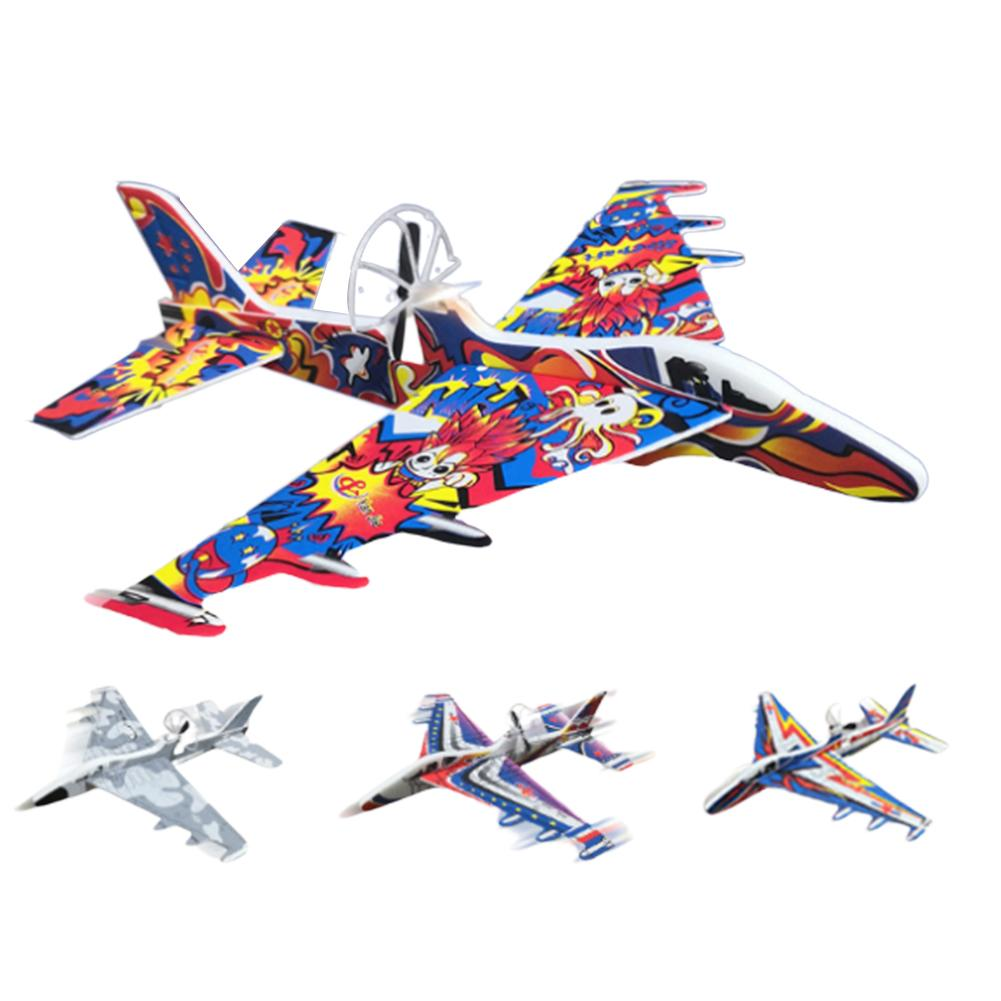 Electric Hand Throw Maneuver Airplane Durable Epp Foam USB Charging Glider Fighter Aircraft Children Plane Model Outdoor Toy image