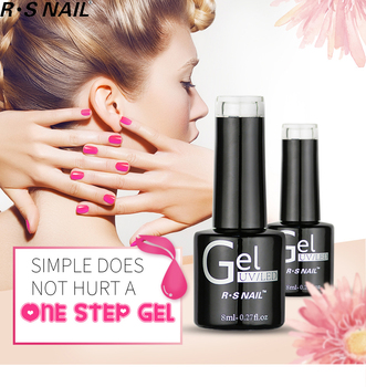RS Nail 3 in 1UV Gel Polish One Step Gel Lacquer Soak off Organic UV LED Nail Gel Varnish Nail Art Salon New Arrival Varnish nail lacquer shaker adjustable nail art uv led gel polish varnish bottle shaking machine fit for all size gel bottles