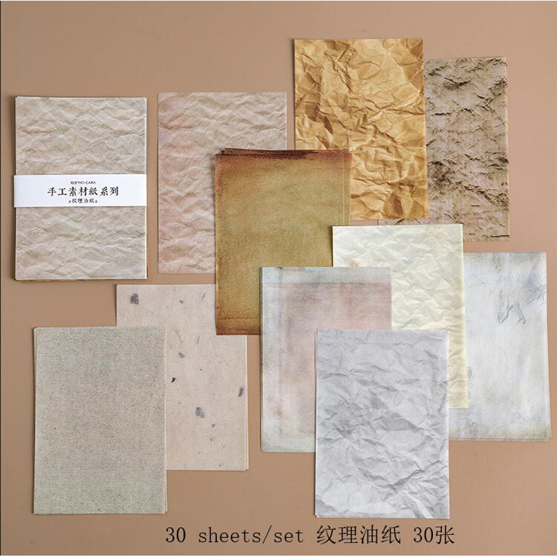 WOKO 13 Style Vintage Collage Material Flower/Lace/Antique Paper/Sulphuric Acid Paper/Onion Paper Basic Sticker DIY Scrapbooking