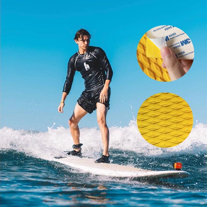 Surfboard Kiteboard Shortboard EVA Surfing Traction Pad Deck Grip Tail Pad Surfing Anti-slip Deck Bar Grip Mat DIY Pad