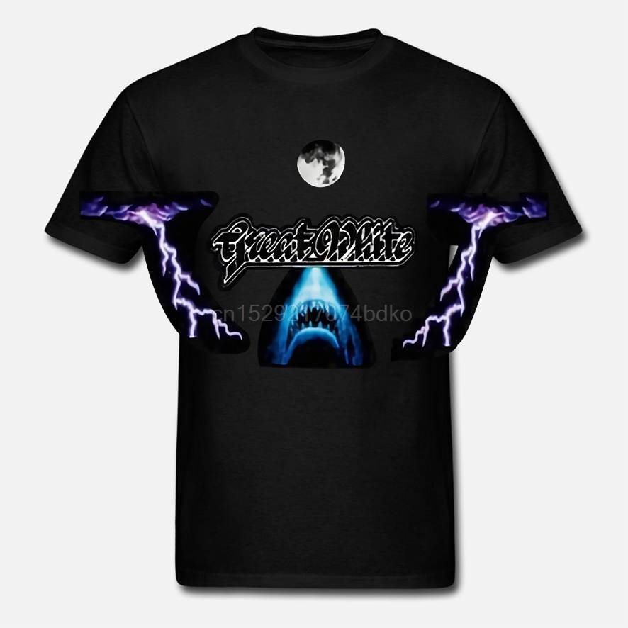 Новая футболка GREAT WHITE BY HARD ROCK BAND hosed DTG с принтом TEE-S6XL