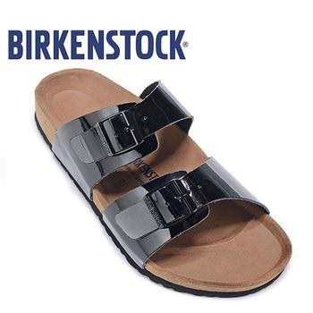 Arizon Original Birkenstock Women Beach Slippers Sandal Leisure Wonen's Shoes Patent Leather Cork Sandals Slippers