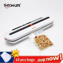 Вакуумная упаковочная машина TINTON LIFE, пищевой вакуумный упаковщик и 10 пакетов в подарок, герметизирующая вакуумная машина
