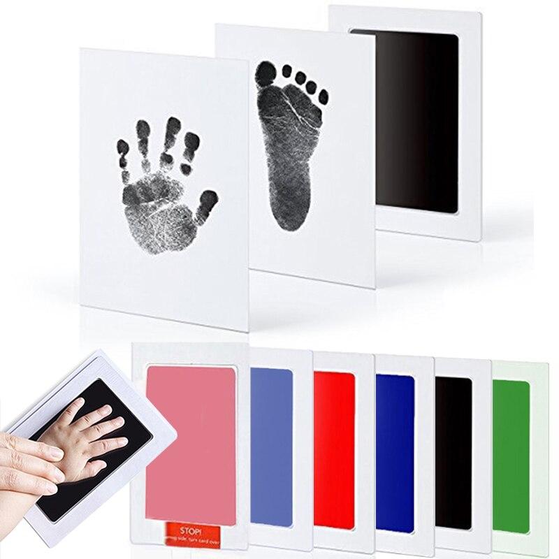 Cuidados Com o bebê Não-Tóxico Kit Handprint Pegada Imprint Fundição de Lembranças Do Bebê Recém-nascidos Do Bebê Almofada de Tinta Pegada Infantil Brinquedo Argila presentes