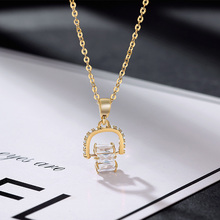 JIAN Chain Necklace for Women Elegant Geometric Crystal Pendant Choker Collar Fashion Gold Color Necklaces Jewelry Girls Gift simple gold color 3d heart pendant choker necklaces for women new fashion trendy chain necklace collar jewelry gifts