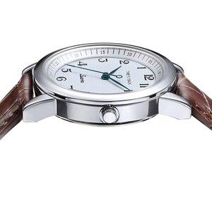 Image 4 - 쿼츠 시계 여성 반 시계 방향 역방향 저울 가죽 비즈니스 방수 시계 패션 반 시계 방향 시계 여성 시계