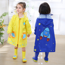 Outdoor Raincoat Cute Cartoon Baby Kids Waterproof Polyester Rain Coat Children Impermeable Poncho Boys Girls Rain Jacket Kids цена 2017