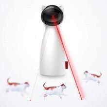 القط لعبة تفاعلية LED الليزر مضحك لعبة السيارات الدورية القط ممارسة التدريب لعبة مسلية متعددة زاوية قابل للتعديل USB تهمة