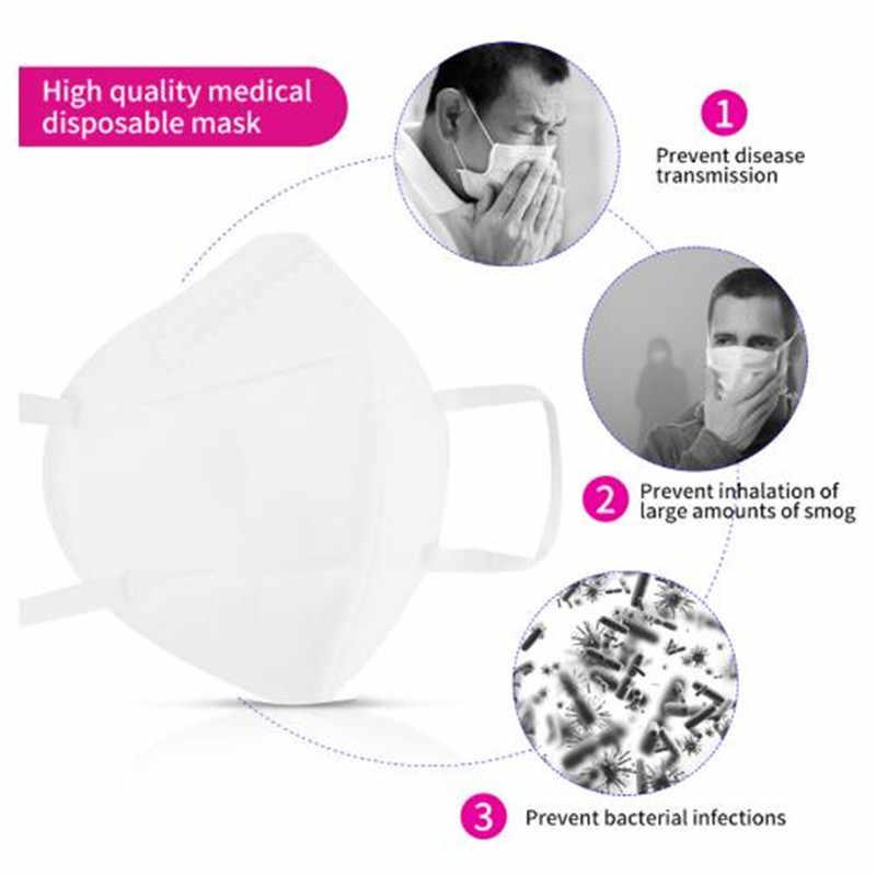 10 шт. маска KN95 Быстрая доставка многоразовая маска PM2.5 защита 99% фильтрация для пыли, пыли, загрязнения рта