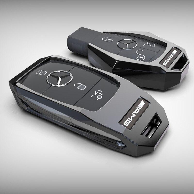 Coche carcasa de protección para llave para Mercedes Benz 2017 2018 E series E300 E200 E220 Maybach S320L S450 S350