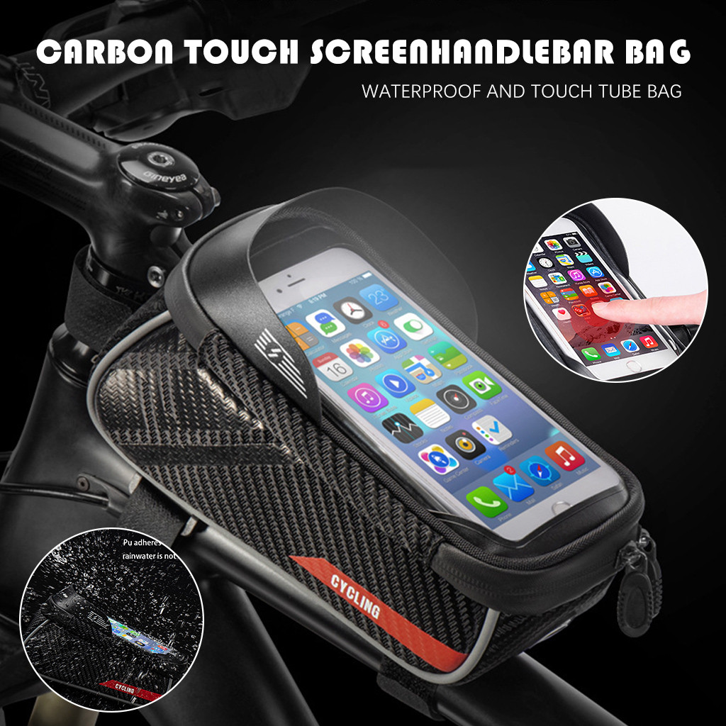 Bicycle Motorcycle <font><b>Phone</b></font> <font><b>Holder</b></font> Waterproof <font><b>Bike</b></font> <font><b>Phone</b></font> Case Bag for iPhone <font><b>Samsung</b></font> <font><b>S9</b></font> S8 S7 Scooter <font><b>Phone</b></font> Case #YL10 image