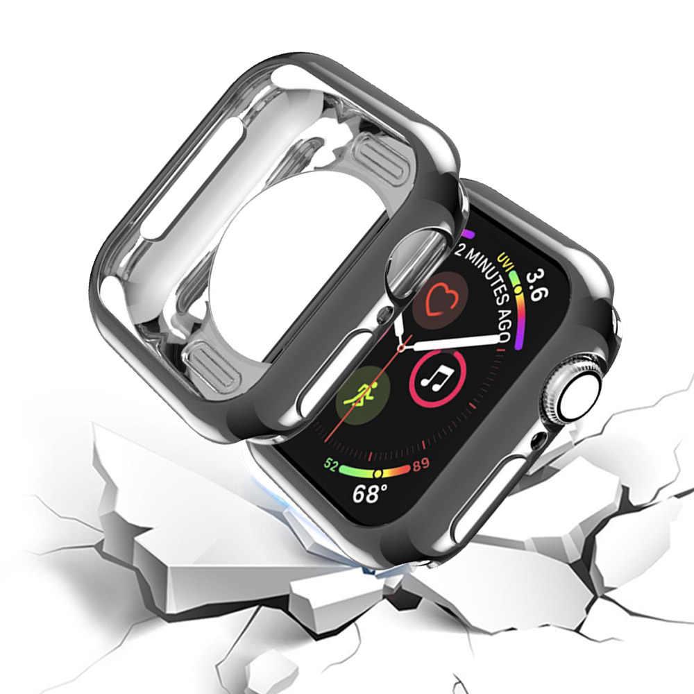 מסגרת TPU מקרה עבור אפל שעון מקרה 40mm 44mm 38mm 42mm סדרת 5 4 3 2 1 מגן כיסוי מקרה פגוש עבור IWatch להקות פגז