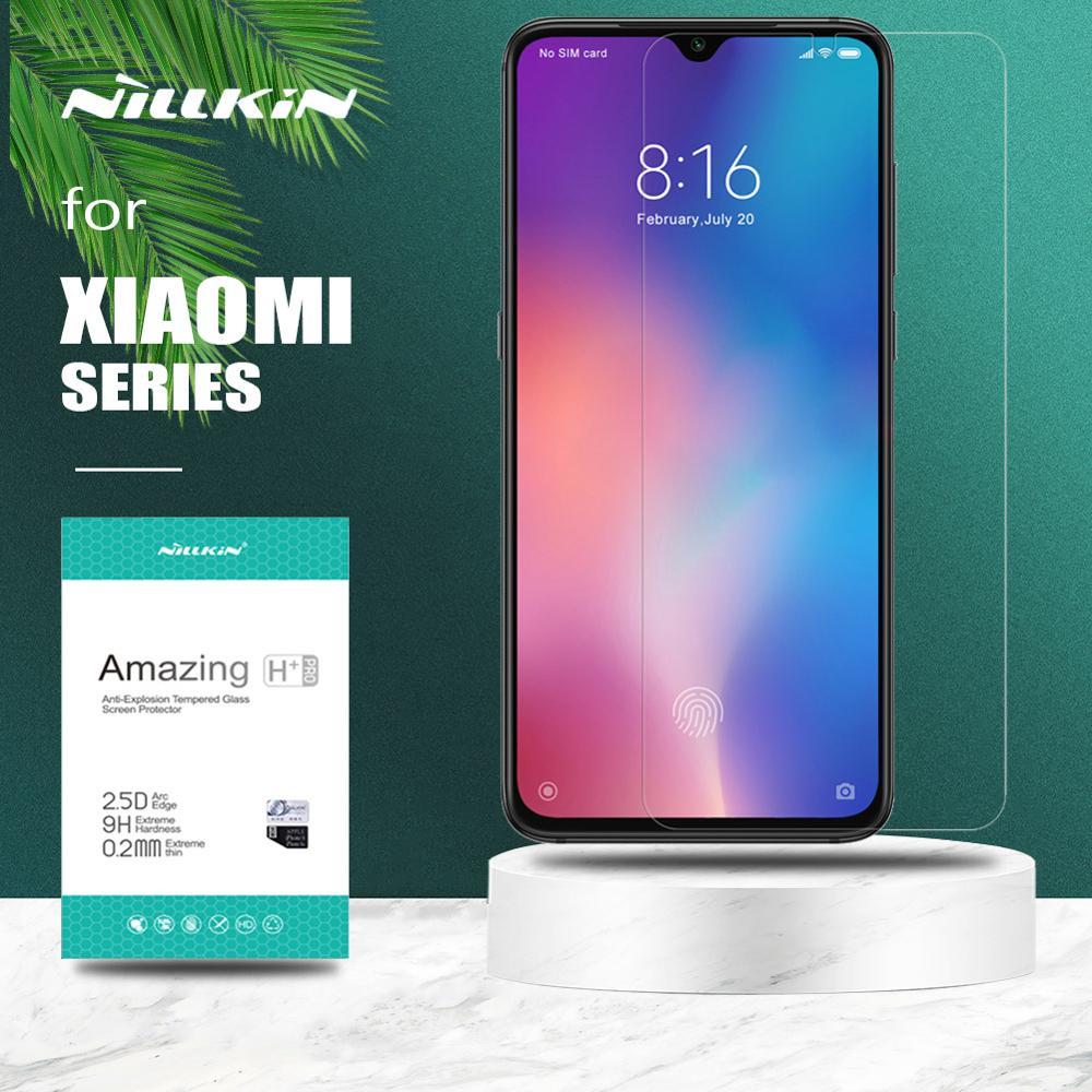 til Xiaomi Redmi Note 8T 8 7 Pro K30 Glass Nillkin herdet glass skjermbeskytter for Xiaomi Mi 9 Lite 8 A3 Mi 9T Pro 6 Mi9 SE