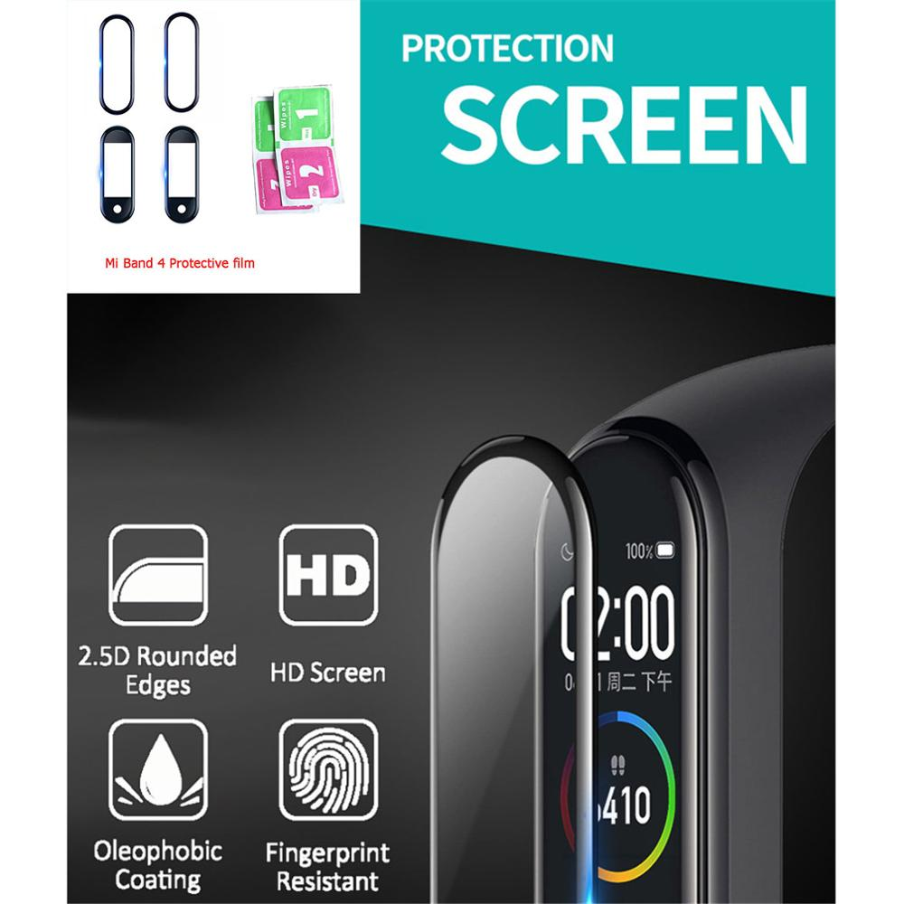 For XiaoMi Band 4 NFC Wristband Screen Film Mi Band 4 Glass Explosion-proof/scratch Prevention Screen Protector Film Accessories