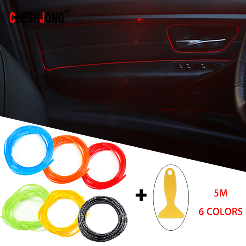 Universal Car Styling Interior Exterior Decoration Strip Dashboard Door Edge Tape Molding Trim Protector Scratch Solid Color