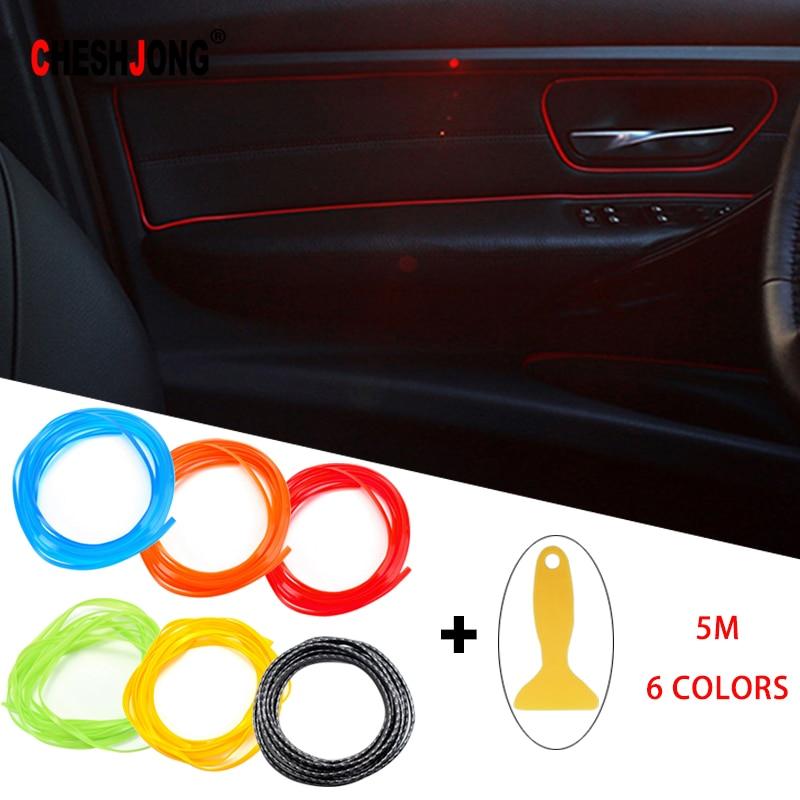 >Universal Car Styling Interior Exterior <font><b>Decoration</b></font> Strip <font><b>Dashboard</b></font> <font><b>Door</b></font> Edge Tape Molding Trim Protector Scratch Solid Color