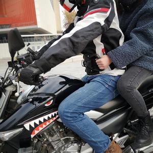 Universal Motorcycle Safety Belt Rear Seat Passenger Grip Grab Handle Non-slip Strap Back Seat Safety Armrest Oxford Cloth Black