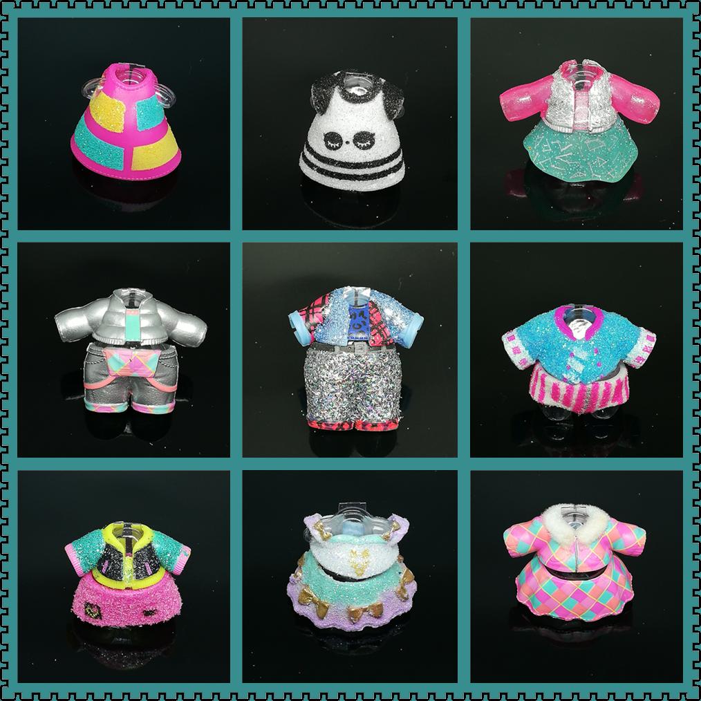 1 pièces Original LOLs Surprise poupée vêtements robe Rare paillettes accessoires pour 8cm grande soeur poupée bricolage jouets filles cadeau de noël