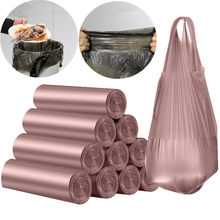 Increase Trash Bags,Gallon Handle Tie Garbage Bags for Office, Kitchen,Bedroom Waste Bin, Portable Strong Rubbish Bags,Waste bas