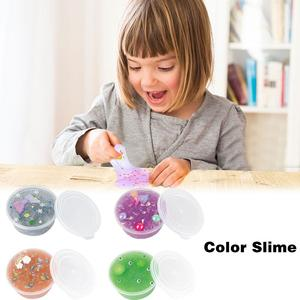 Kids Boys Girl Color Slime Sludgy Gooey Fidget Kit For Stress Relief Crystal Mud Party Favor Educational Game In Stock(China)