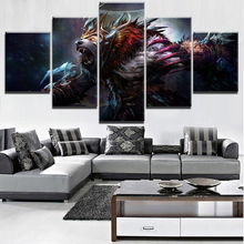 Canvas Game Posters Home Decoration Wall Art Modular Pictures 5 Pieces DotA 2 Ursa Paintings For Living Room Unique Framework