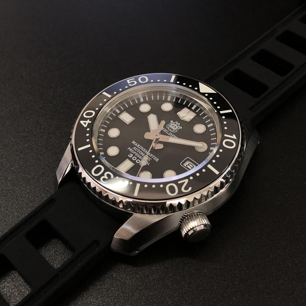 ADDIES  Japanese NH35 Automatic Diver Watch Water Resistant Ceramic Bezel Sapphire Glass Men's Watch300m 316L Steel Watches Men