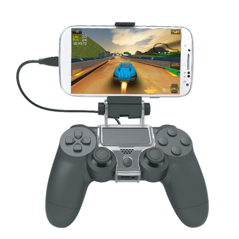 Phone Clamp Retractable Gaming Clip Holder Wireless Gamepad Controller Handle Mount Bracket For Sony PS4 Controller Accessories