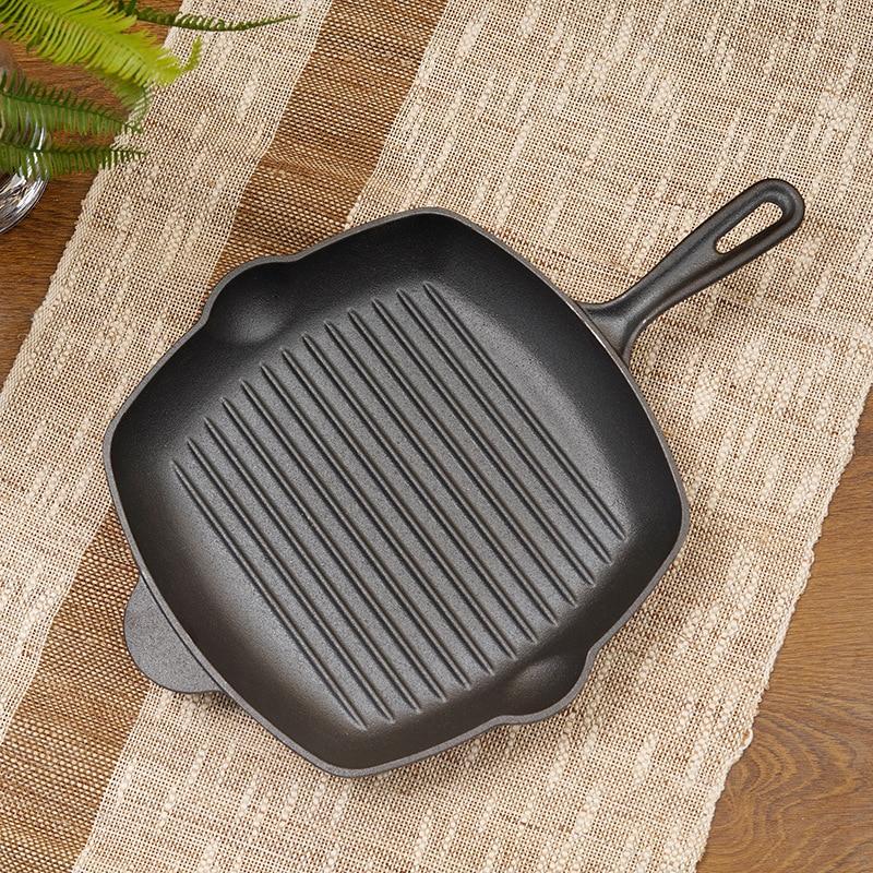 Poêle en fonte couche de pierre antiadhésive poêle cuisinière à oeufs utilisation de gaz et d'induction poêle Non collante