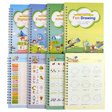 Toys Painting Practice-Books Alphabet Math Reusable Copybook Calligraphy-Learn Children