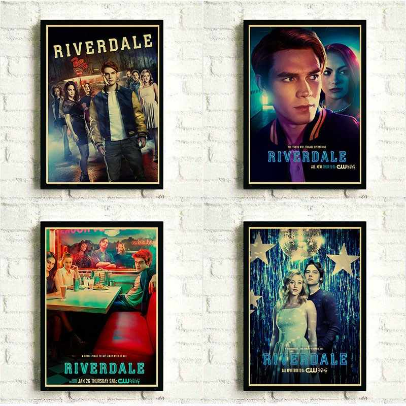 Riverdale Poster Vintage Kraft Paper Poster Prints for Living Room Home Wall Decor Painting Posters, retro Crafts Art Poster