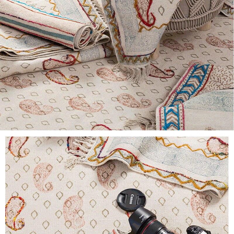 Cotone Tappeto Per Soggiorno India Importato Marocco Camera Da Letto Tappeto Tessuto A Mano Arazzo Con Nappa Della Boemia Divano Tavolo Da Tè Tappeti - 5