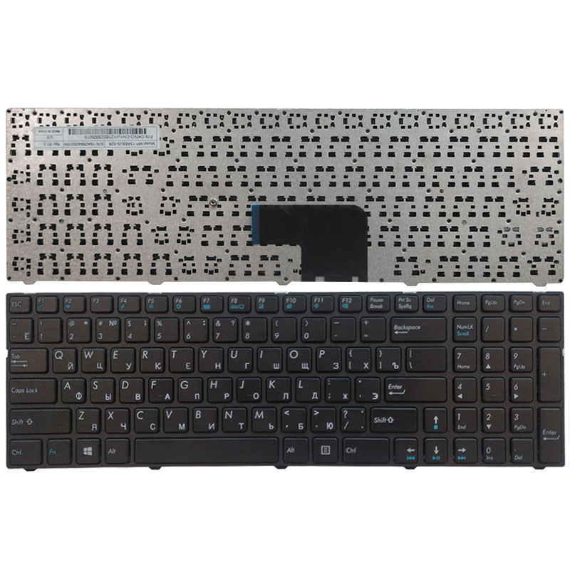 Russian laptop Keyboard for Medion Akoya MSI E6237 E7416 P7627 P7628 E6239T P6643 P7631 MD 98873 black with frame(China)