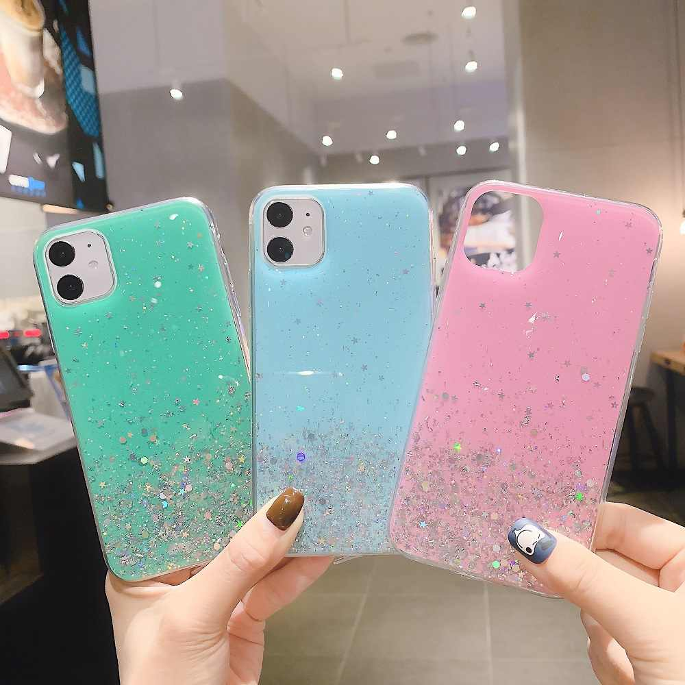 Cute Glitter i 11 Phone Case For iPhone XR X XS MAX Cover Luxury Macaron Soft TPU Case For iPhone 11 Pro MAX 8 7 6S 6 Plus Cover