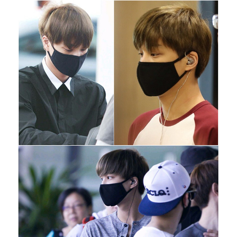 TFBOYS FTisland EXO G-DRAGON High Quality 1pc Cotton Mouth Black And White Sports Anti Dust Protective Double  Mask OD105