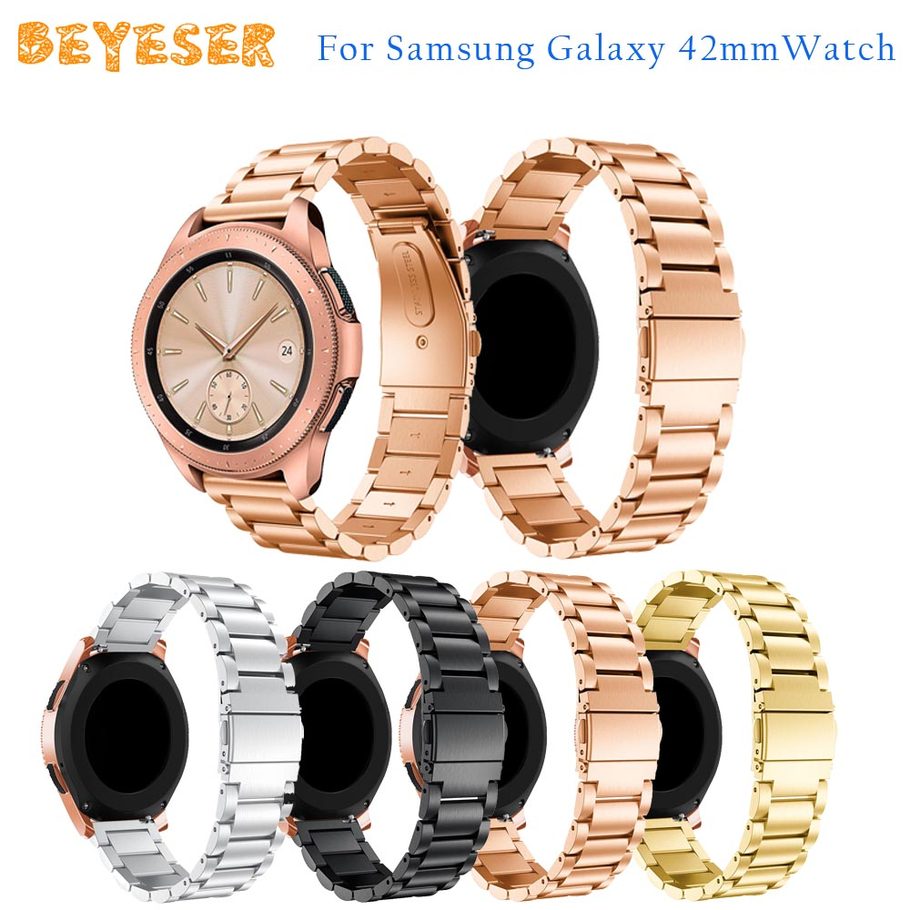 For Samsung Gear S2/Gear Sport wristband Stainless steel watch strap bracelet replacement for Samsung Galaxy 42mm watches bands