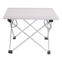 Folding-Table Light-Weight Aluminum-Alloy Outdoor Camping for Beach-Backyards BBQ Party-Size