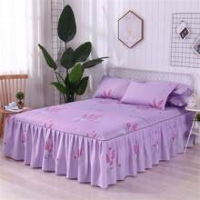 1.5*2 M Bed Skirt Queen Size Single-Layer Skin-Friendly Cotton Bedspread 3PCs Set Including 1 Bedspread 2 Pillowcases(China)