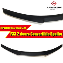цена на For BMW F33 2-Door Convertible M4 Style FRP Unpainted Rear Trunk Spoiler Wing 4 Series 420i 430i 435i 440i Rear Wings 2014-2018