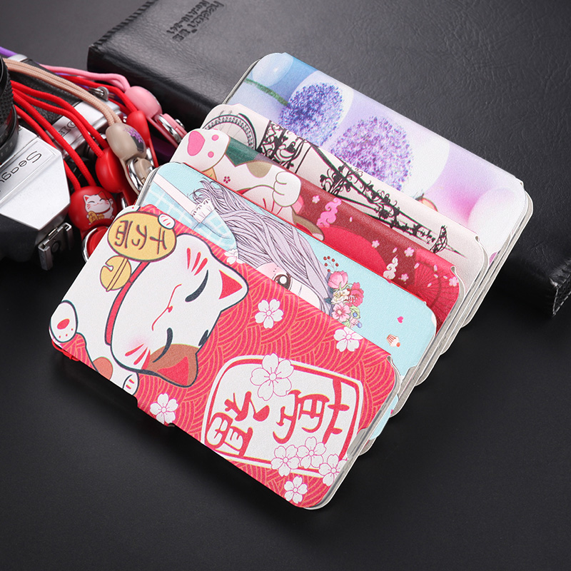Cartoon Funny Flip Leather <font><b>Case</b></font> For <font><b>OPPO</b></font> K1R15X RX17 NEO Wallet Book Lovely Cover Girl <font><b>OPPO</b></font> RENO A <font><b>F11</b></font> F9 <font><b>Pro</b></font> F5 A3s Capa Bag image