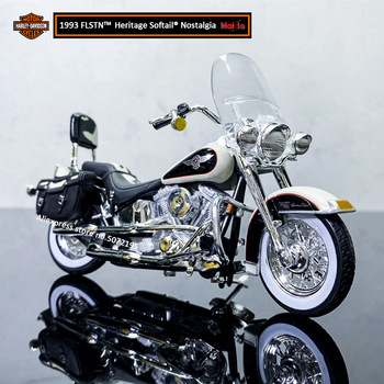 Maisto 1:18 HARLEY-DAVIDSON 1993 FLSTN Heritage Softail Alloy Diecast Motorcycle Model Workable Toy Gifts Toy Collection maisto new 1 10ducati desmosedici alloy diecast motorcycle model workable shork absorber toy for children gifts toy collection