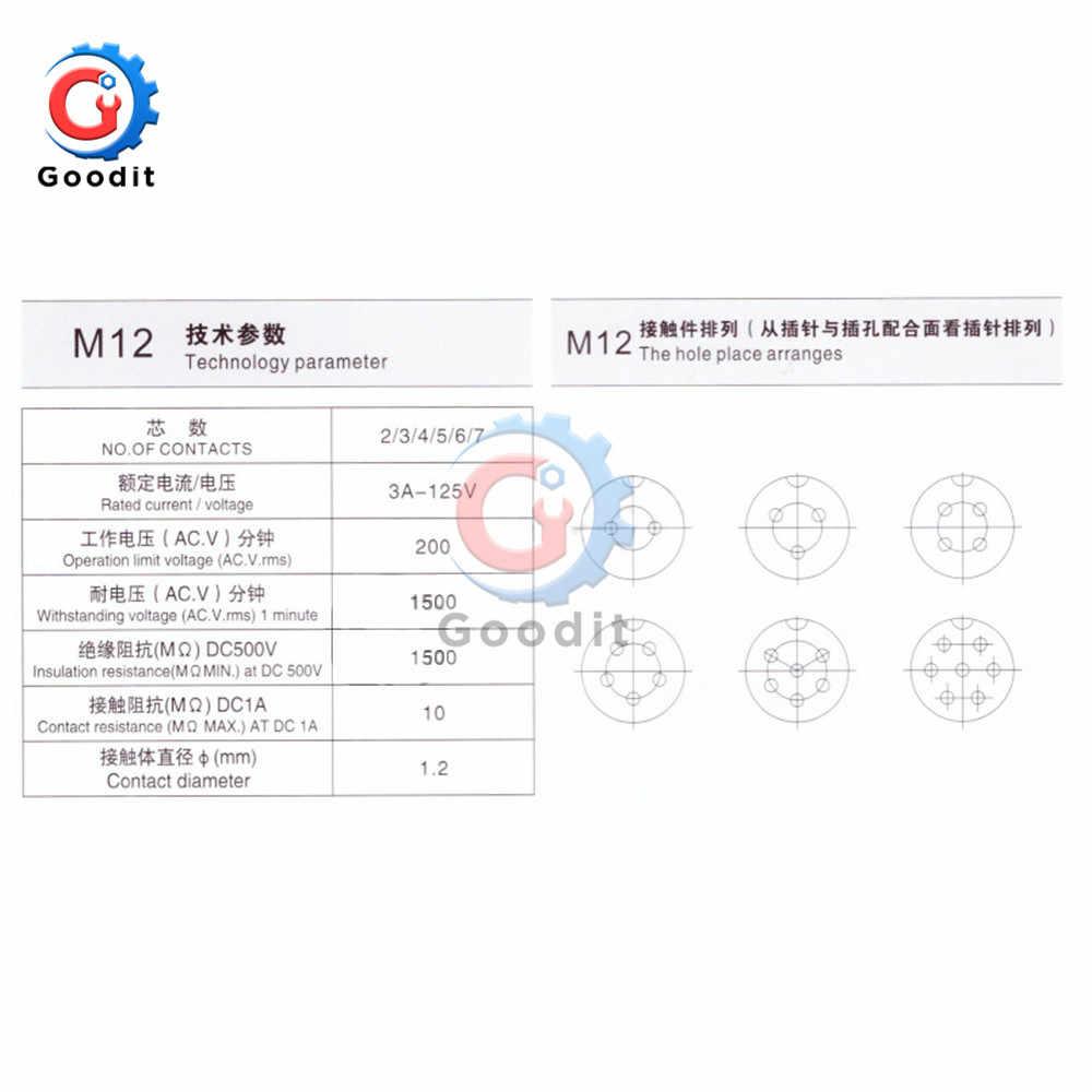1 juego GX12 2/3/4/5/6/7 Pin macho y hembra 12mm conector de Panel Circular de L88-93 cables con tapa de plástico