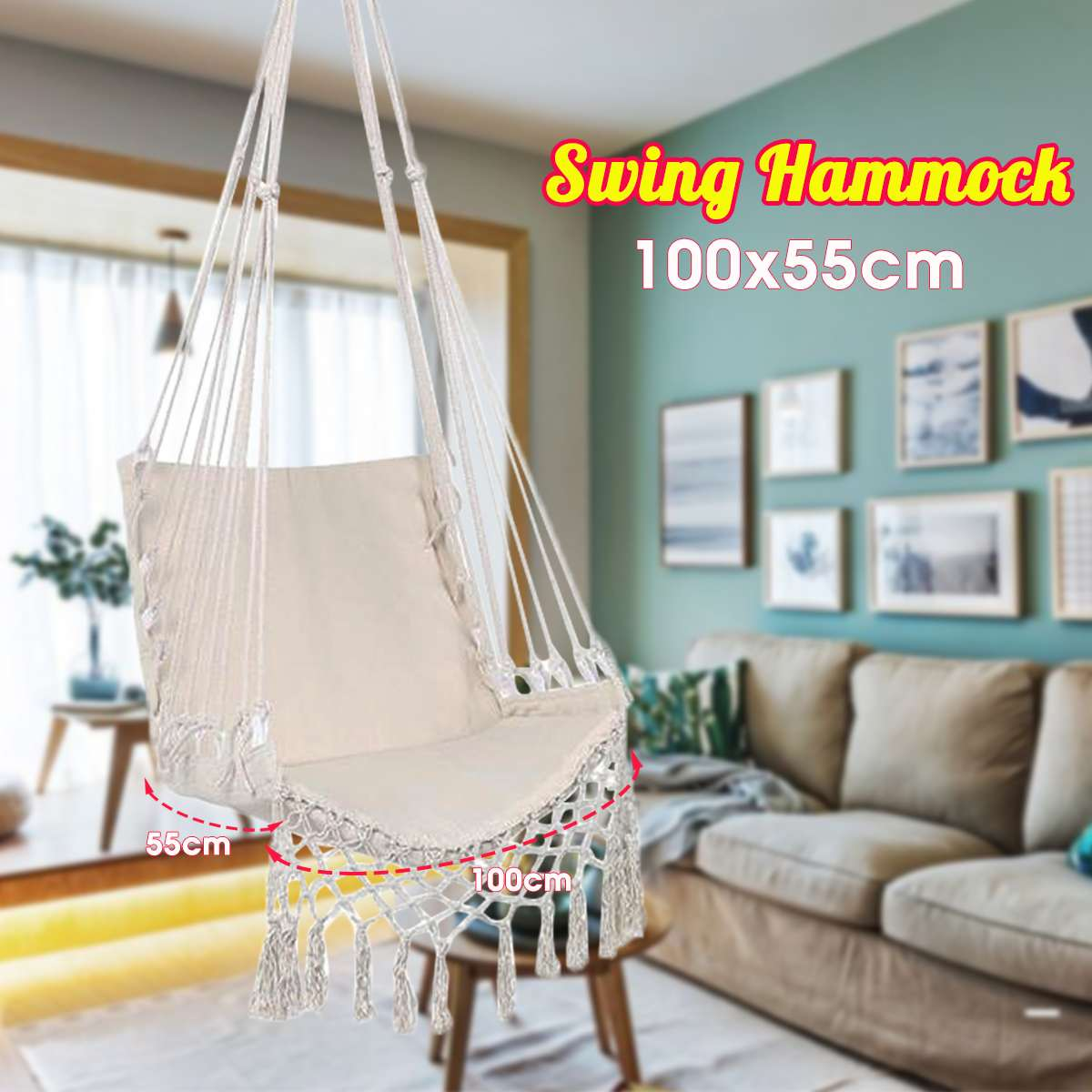 Nordic Style Ins Hammock White Hanging Chair Indoor Furniture