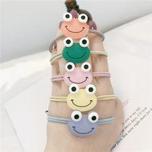 Bonito colorido dos desenhos animados sapo headwear crianças bandas de cabelo elásticas cordas acessórios para meninas do bebê pelo banda