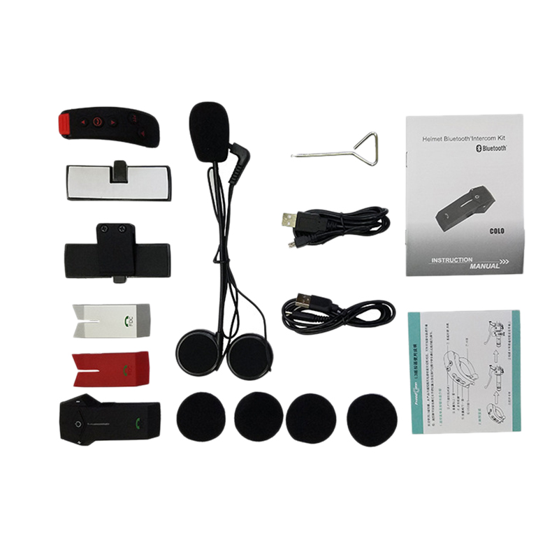 FreedConn Colo Rc Nfc Motorrad Helm Wireless Headset Bluetooth Helm Intercom Headset 1000 Meter Mit Fernbedienung
