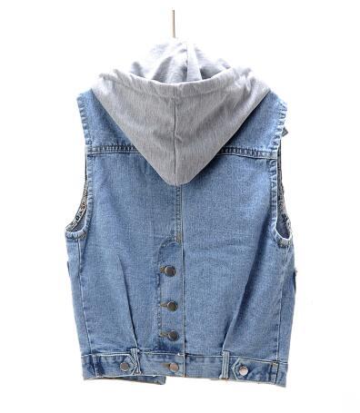 Sleeveless Vest Women Denim Jacket Loose Vintage Detachable Denim Vests Casual Female Jeans Jackets Plus Size 4XL 5XL