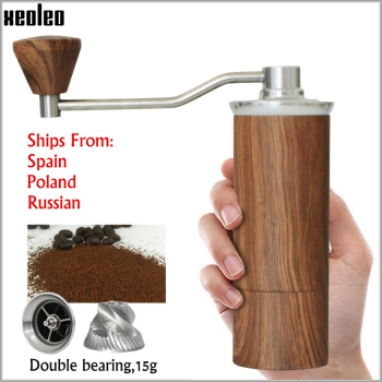 XEOLEO Manual Coffee grinder 45MM Aluminum miller Black/Brown/Silver/Gold 15g Mini Portable milling machine - discount item  39% OFF Kitchen Appliances