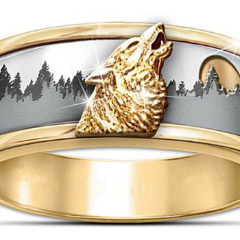 טבעת גולדפילד עם זאב בולט לגבר