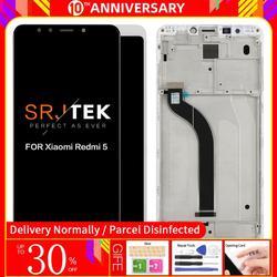 """Oryginalny 5.7 """"dla Xiaomi Redmi 5 wyświetlacz LCD ekran dotykowy z ramą Digitizer zgromadzenie dla Xiaomi Redmi 5 wyświetlacz wymienić części w Ekrany LCD do tel. komórkowych od Telefony komórkowe i telekomunikacja na"""