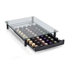 2020 Glass Nespresso Coffee Pods Holder Rack Coffee Capsule Stand Brand Capsules Storage Shelve Organization Coffe Holder Drawer