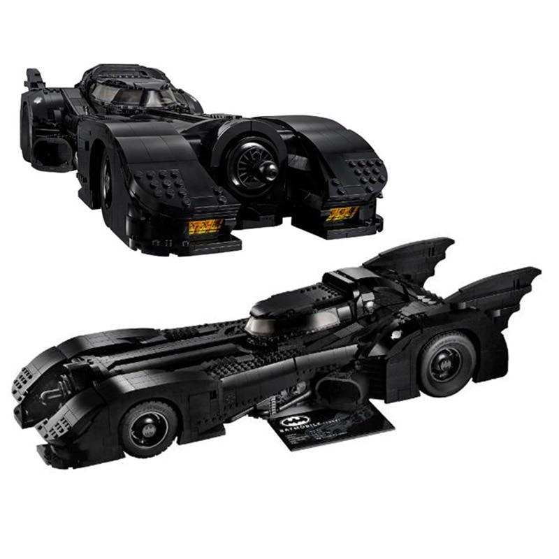 NEW 3856Pcs Batman Super Hero 1989 Batmobile 76139 Building Blocks Bricks Model Kits Toys Children Gift Compatible With 59005